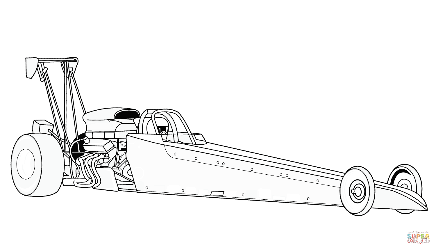Dragster Super Coloring Race Car Coloring Pages Cars Coloring Pages Dragsters