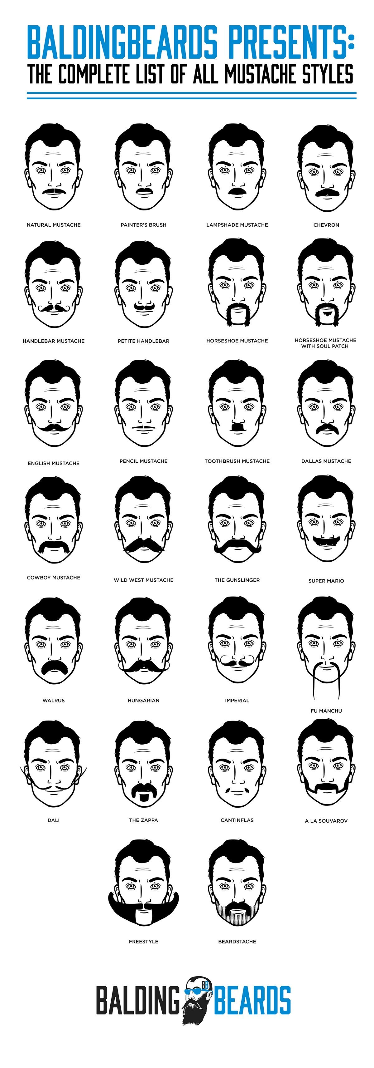 26 best mustache styles for men you should try at least once 2018 beards 101 pinterest. Black Bedroom Furniture Sets. Home Design Ideas