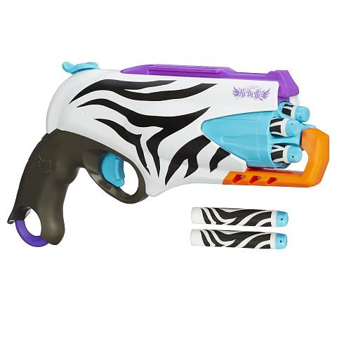 "NERF Rebelle Super Stripes Collection Five-By-Five Blaster - Hasbro - Toys ""R"" Us"