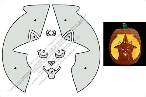 Witch Hat Cat Pumpkin Stencil fall Pinterest Cat pumpkin - cat pumpkin template