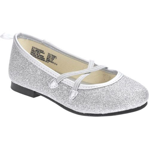 def0b1a25db Healthtex Toddler Girl s Silver Dazzle Dress Flat  Baby Clothing    Walmart.com