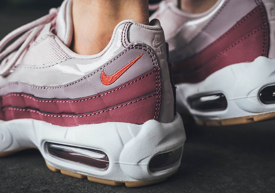 Women's Nike Air Max 95 BARELY ROSE HOT PINK GREY PATENT
