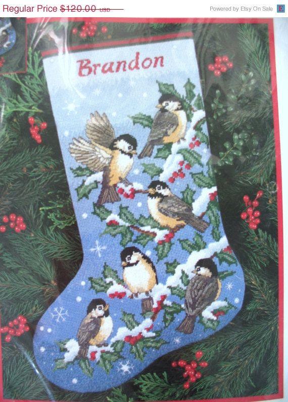 CIJ SALE Needlepoint Christmas Stocking by GlamourGirlsLingerie, $108.00