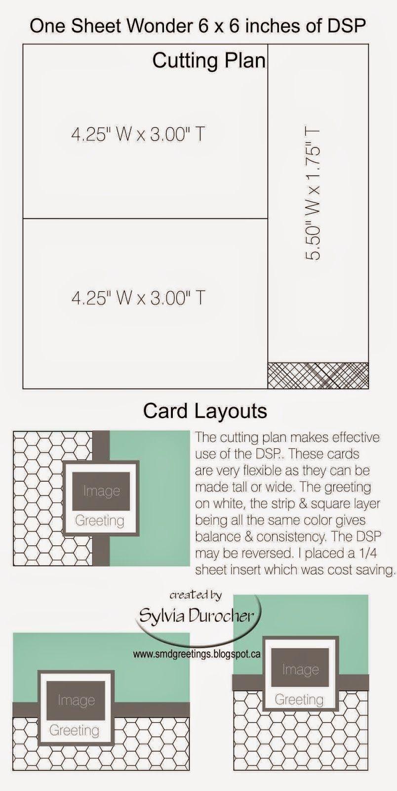 I did research a while ago for One Sheet Wonder plans. For me I had hoped to find the cutting plan and the card layouts to go with it....