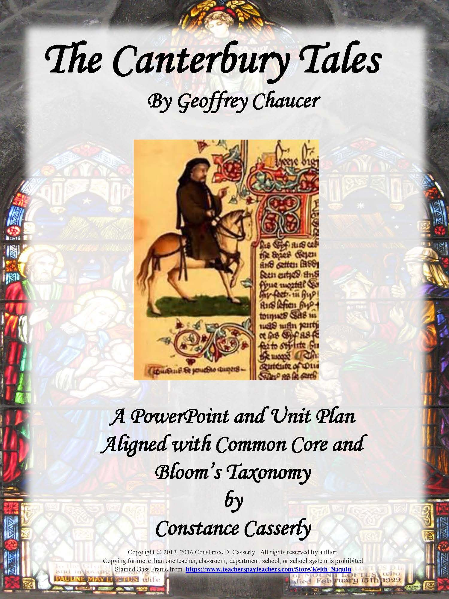 literature the canterbury tales powerpoint and unit plan a this 51 page unit plan for the canterbury tales includes all of the material from