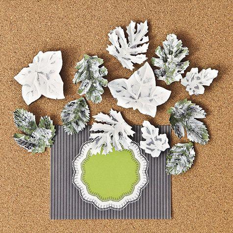 Set of 12 Tole Leaf Pushpins