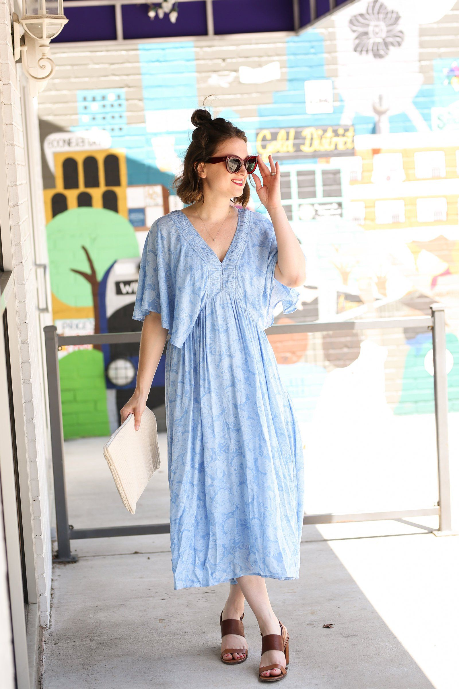 e05386495fca A Blue Caftan Dress for the 4th of July