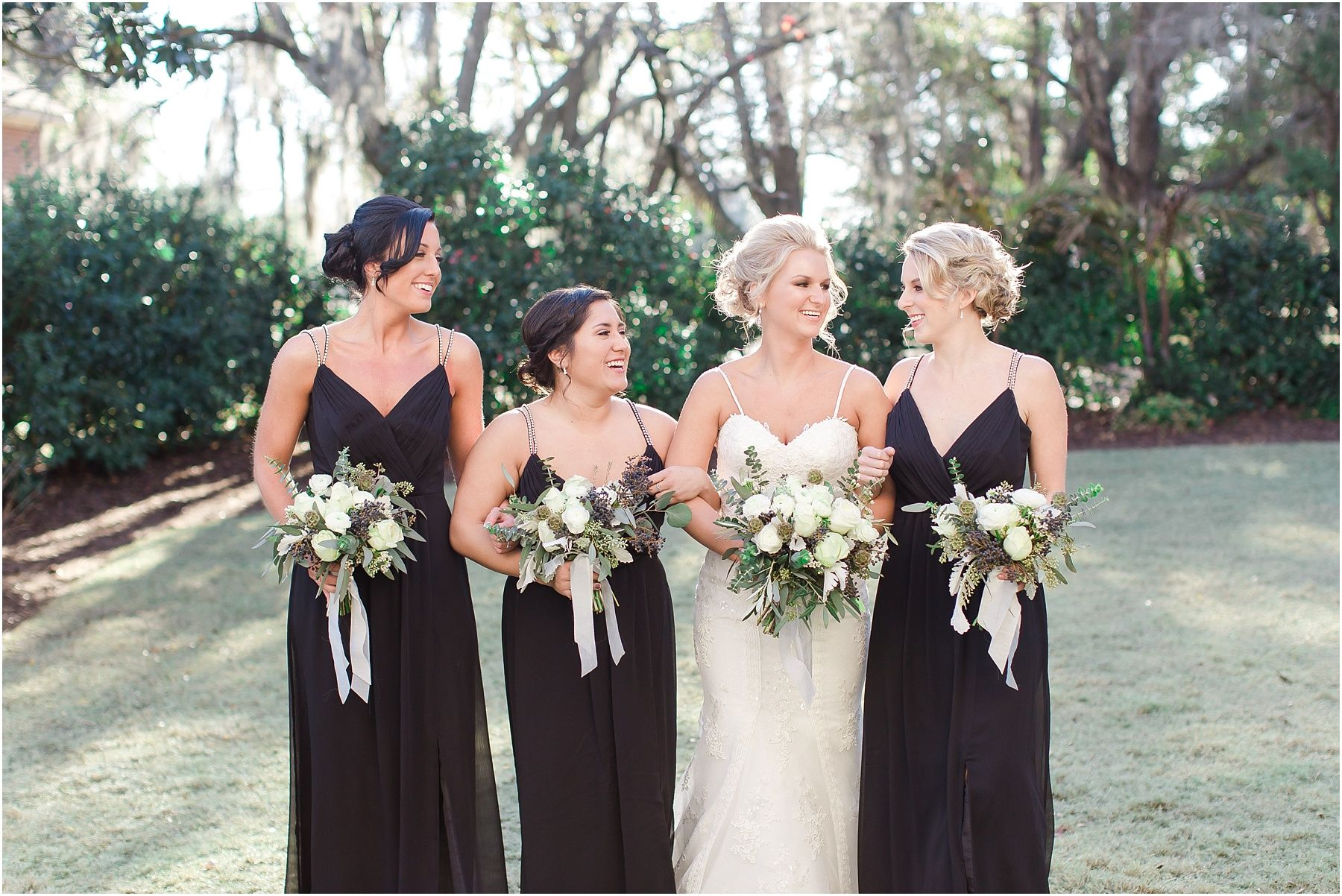 1a623746562f Black bridesmaid dresses with rhinestone spaghetti straps from David s  Bridal