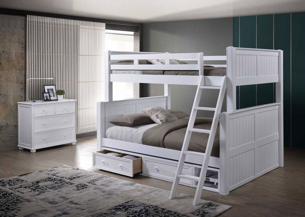 Dillon Extra Long Full Over Queen Bunk Bed Queen Bunk Beds