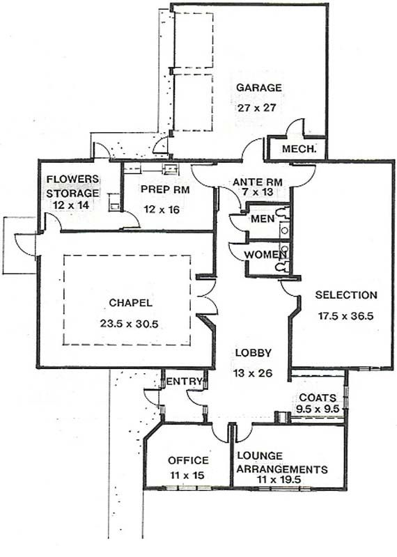 Funeral Home Floor Plan Layout Floor Plan Layout House