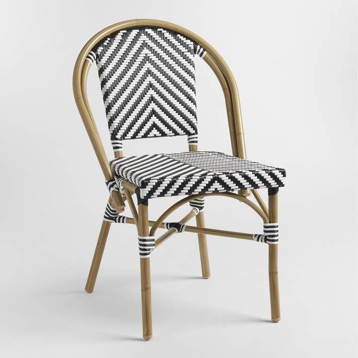Cost Plus World Market Black White Kaliko Outdoor Bistro Chairs