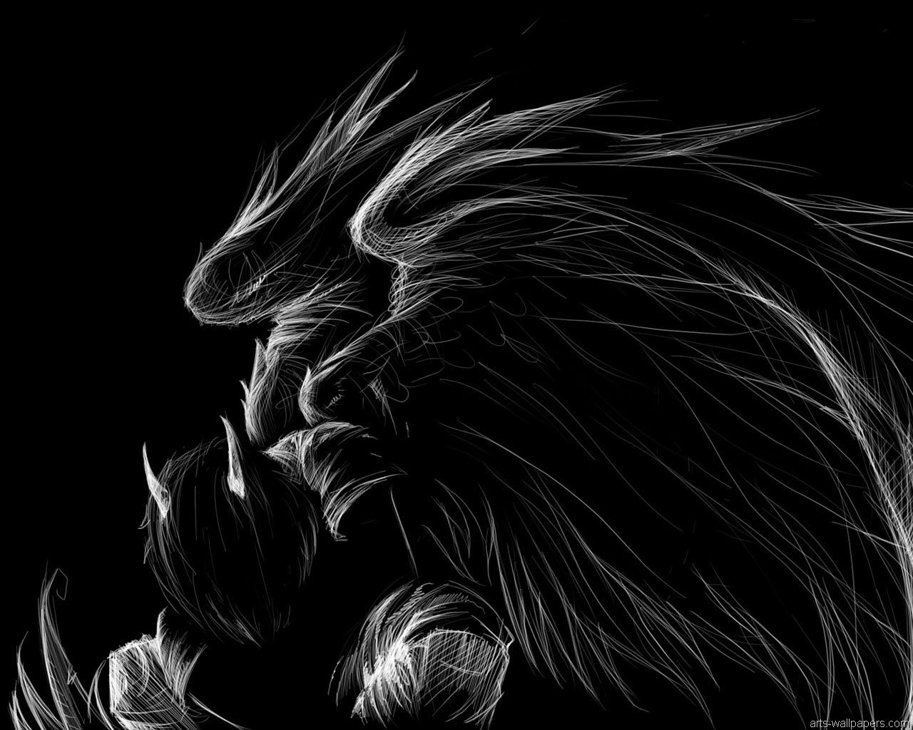 Dark Angel Sketch Dark Fallen Angel Wallpaper Wallpaper Ponsel