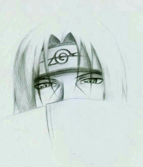 Aprendendo A Desenhar Naruto Sketch Itachi Uchiha Art Naruto Drawings