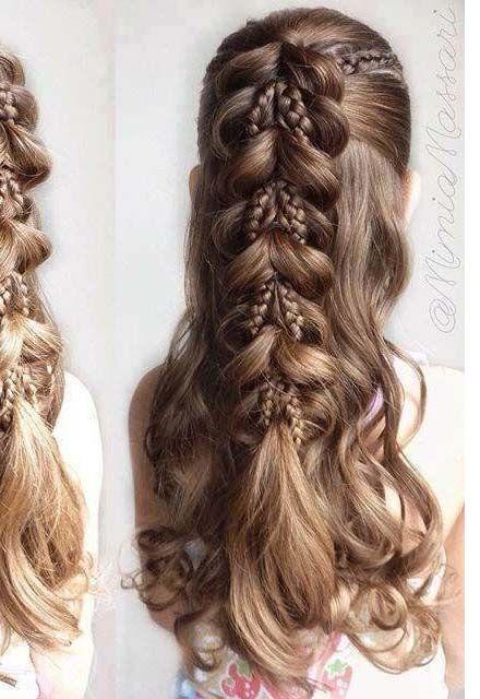 Kids Fancy Hair Style Hair Style Little Girl Braid