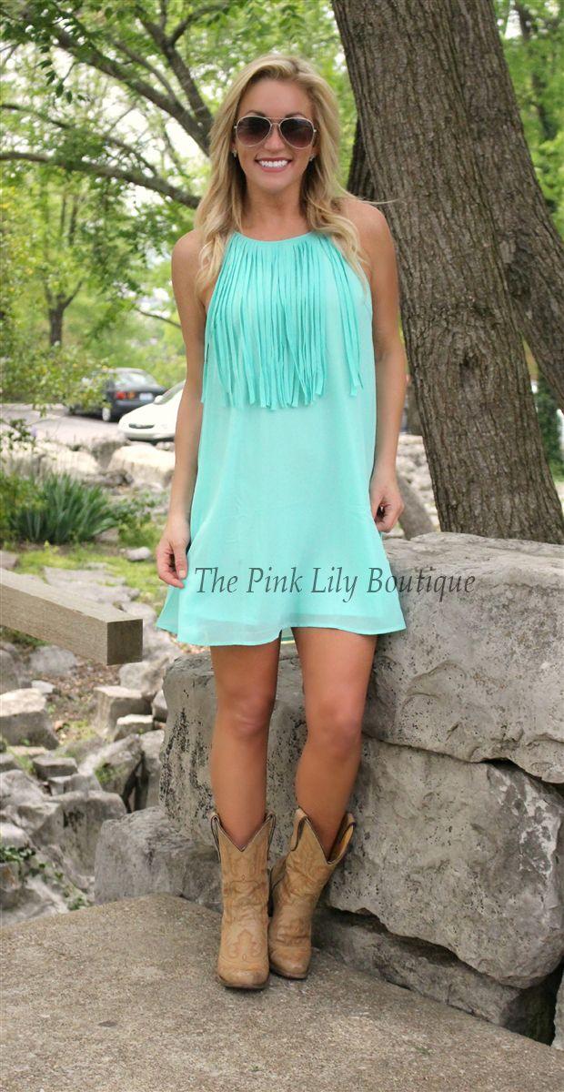 The Pink Lily Boutique - Fringe til the End Jade, $37.00 (http://thepinklilyboutique.com/fringe-til-the-end-jade/)