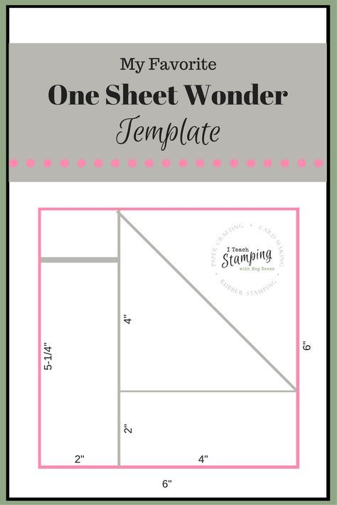 One Sheet Wonder Template for Batch Card Making OSW One Sheet