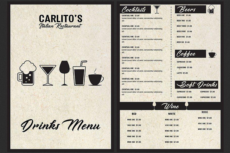 italian restaurant menu template menu restaurant italian templates