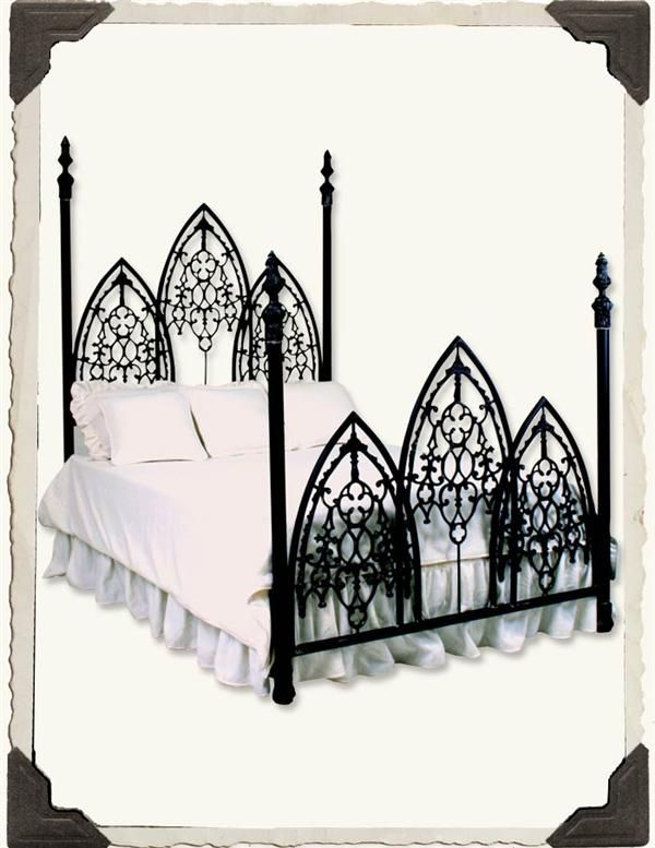 French Gothic Iron Bed Wrought Iron Bed Apartment Furniture