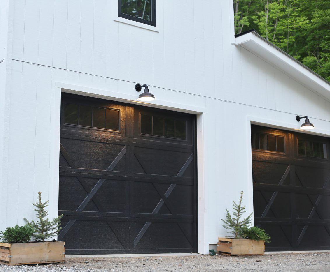 Bomber Gooseneck Light In 2021 Garage Door Design Garage Door Types Garage Door Styles