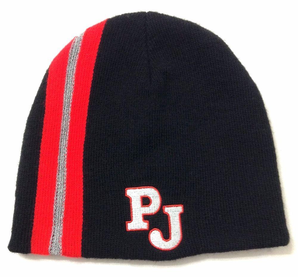 256f6ff2ba3 PAPA JOHNS PIZZA BEANIE Black Red PJ Advertising Winter Knit Skull Hat Men Women   Beanie