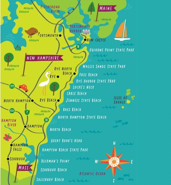 New Hampshires 18 miles of coastline new england Pinterest