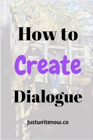 How do you write dialogue in a book