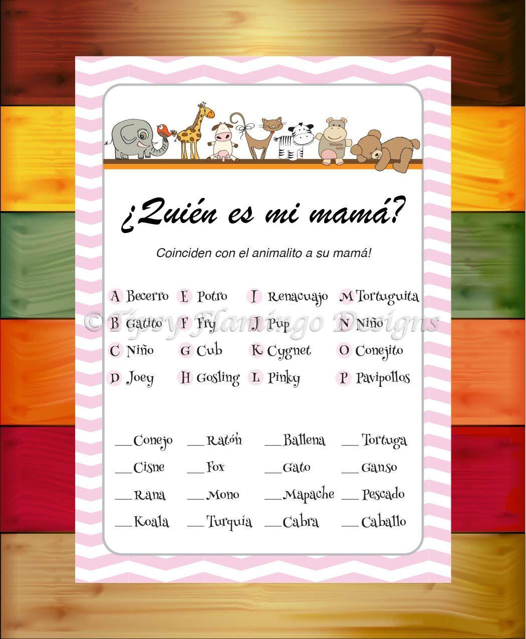 Unique Spanish Baby Shower Who S My Mommy Quien Es Mi