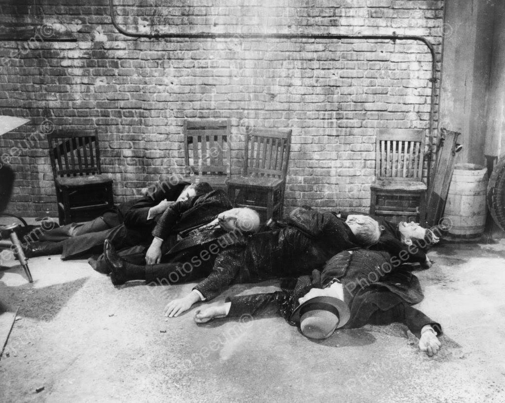 Grim St Valentines Day Massacre Scene 8x10 Old Photo American History