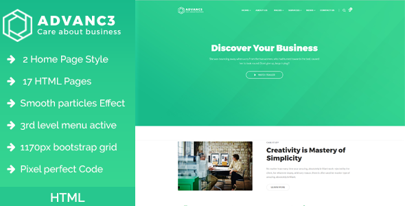 advance business training consulting html template http