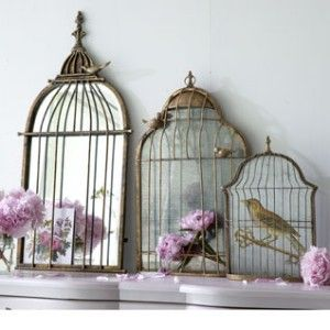Gorgeous birdcage mirror by Angel at my Table is the perfect combination of Parisian femininity and elegance