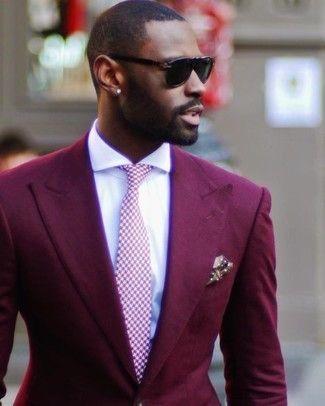Mens fashion smart, Mens burgundy blazer