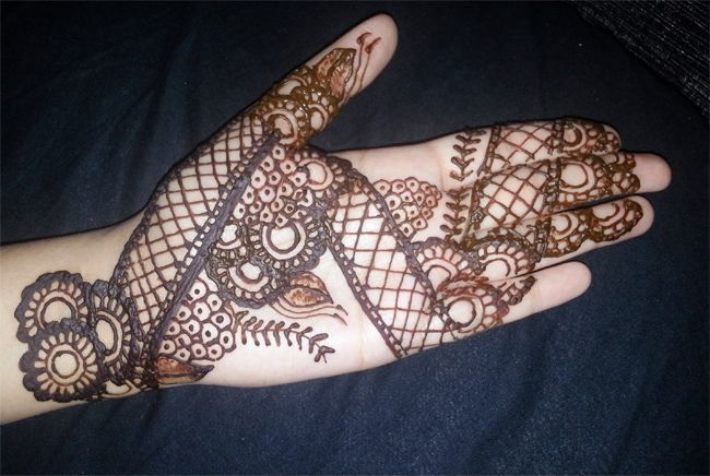Front Hand Henna Mehndi Design : Front hand indian mehndi design for women henna