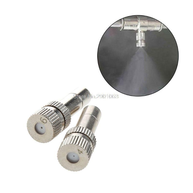 High Low Pressure Misting Spray Nozzle 0.4mm 0.6mm Plug Anti Drip Garden #K400Y#