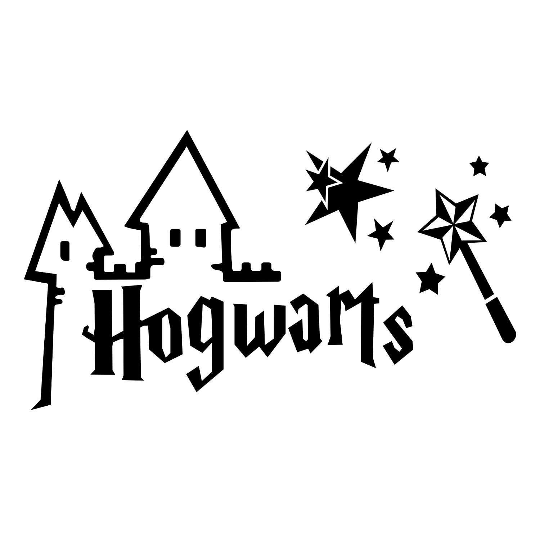 Harry Potter Hogwarts Graphics Svg Dxf Eps Png Cdr Ai Pdf Vector Art Clipart Instant Download D Harry Potter Stickers Harry Potter Room Silhouette Cameo Disney