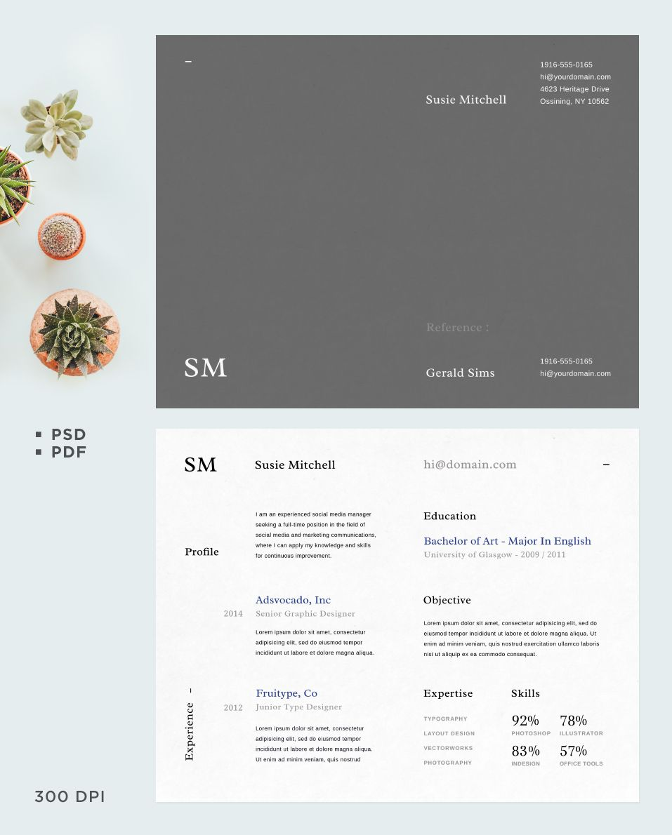 Free CV Template Vol 02 | Free cv template, Cv template and Template