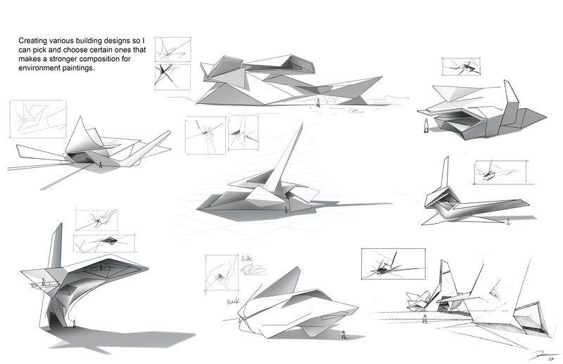Architecture concept abstract by pk87 form analysis for Concept 8 architects