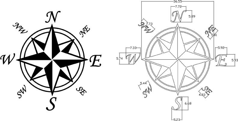 compass Template | Compass Rose