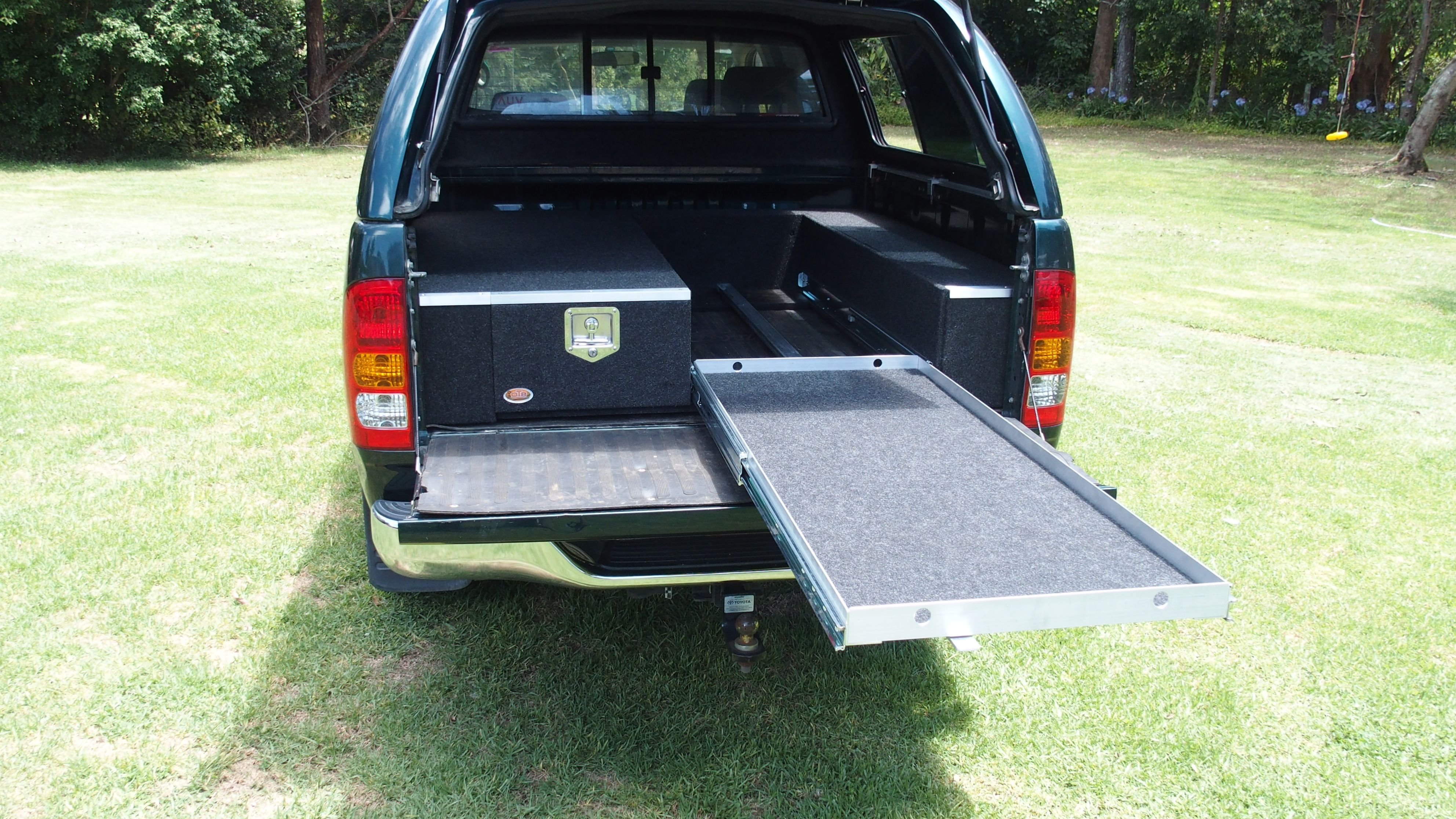 Showing The Full Length Fridge Slide In A Toyota Hilux Toyota Hilux Hilux Camper 4wd