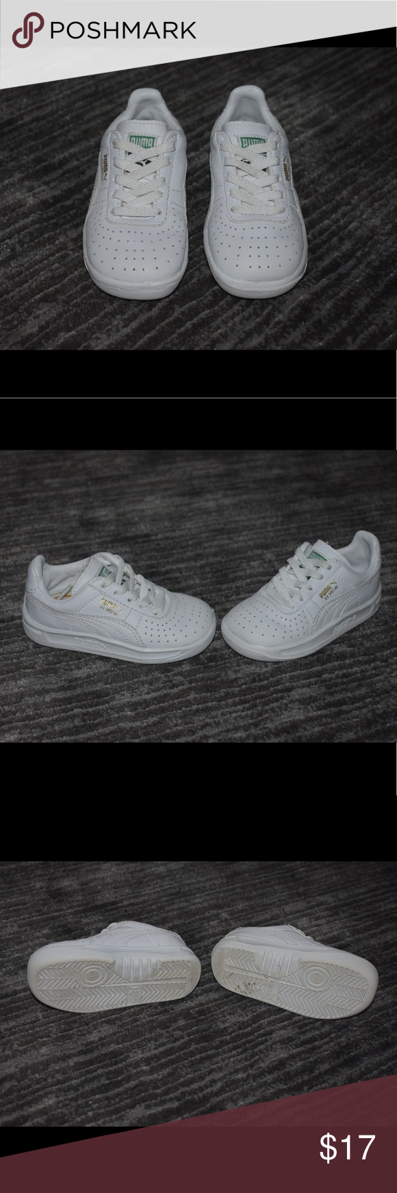 1e512186 White Puma gv special baby/toddler shoes Worn a few times but kept ...
