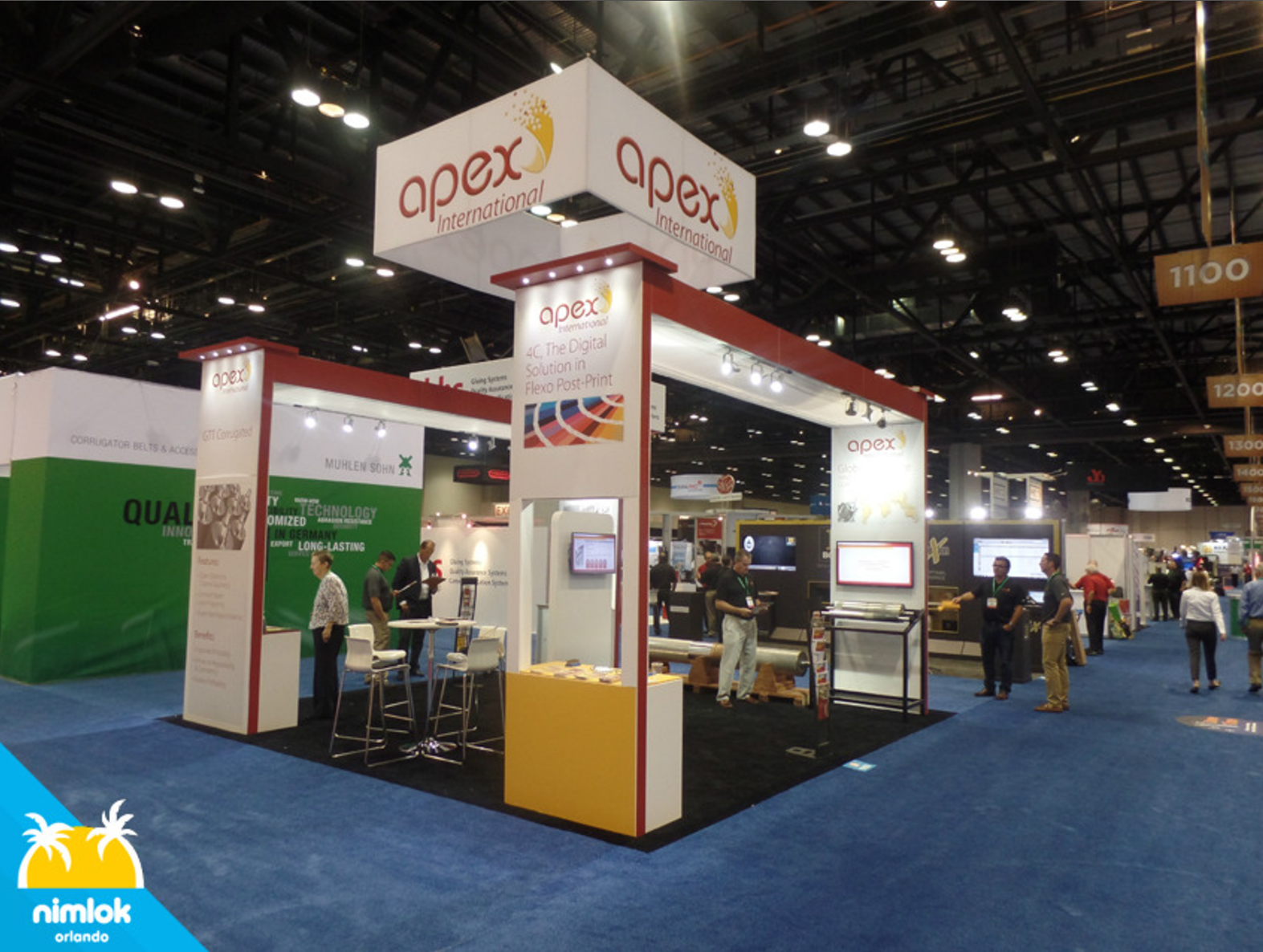 Exhibition Stands In Orlando : Apex international custom trade show booth exhibit