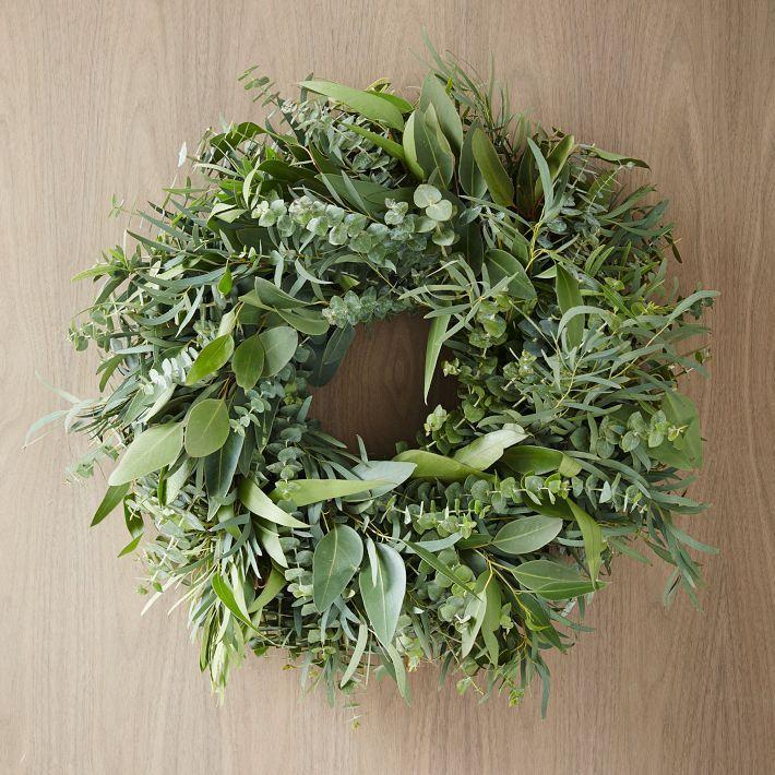 mixed eucalyptus wreath t rkr nze kranz adventskranz. Black Bedroom Furniture Sets. Home Design Ideas