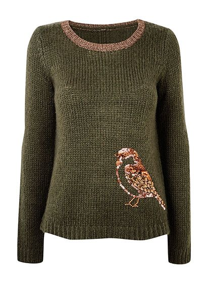 motif knits - sparkly sparrow... Cute sweater for fall