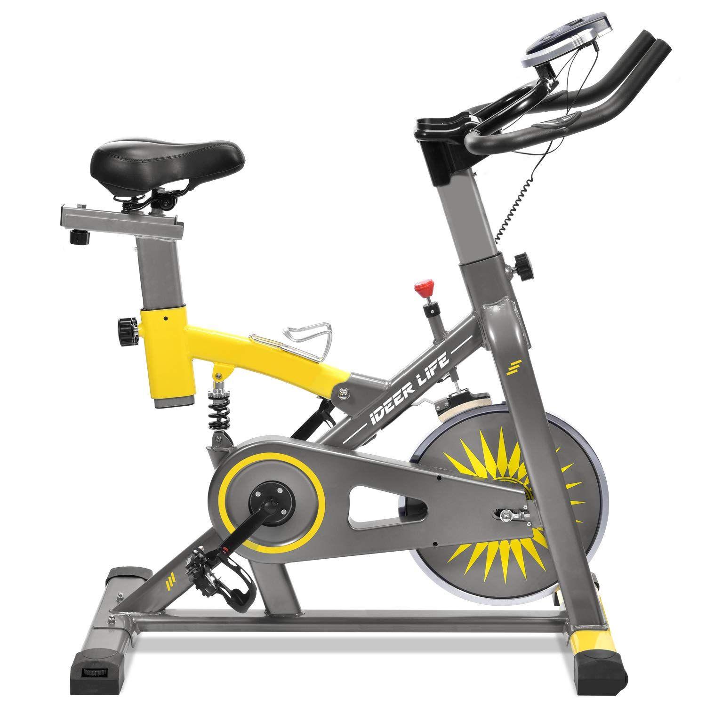 Ideer Life Exercise Bike Stationary Indoor Cycling Bike Heavy Duty Exercize Bike Adjustable Ind In 2020 Biking Workout Indoor Cycling Workouts Indoor Cycling Bike