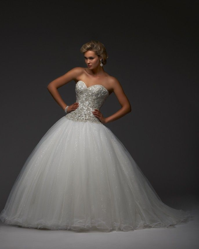 This All Beaded Bodice And Sparkle Tulle Skirt Is Sure To Make You Feel Like Wedding Dresses