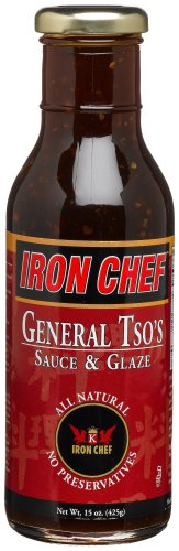 IRON CHEF General Tso's Sauce & Glaze, All Natural, Kosher, 15-Ounce Glass Bottles (Pack of 3) $15.32