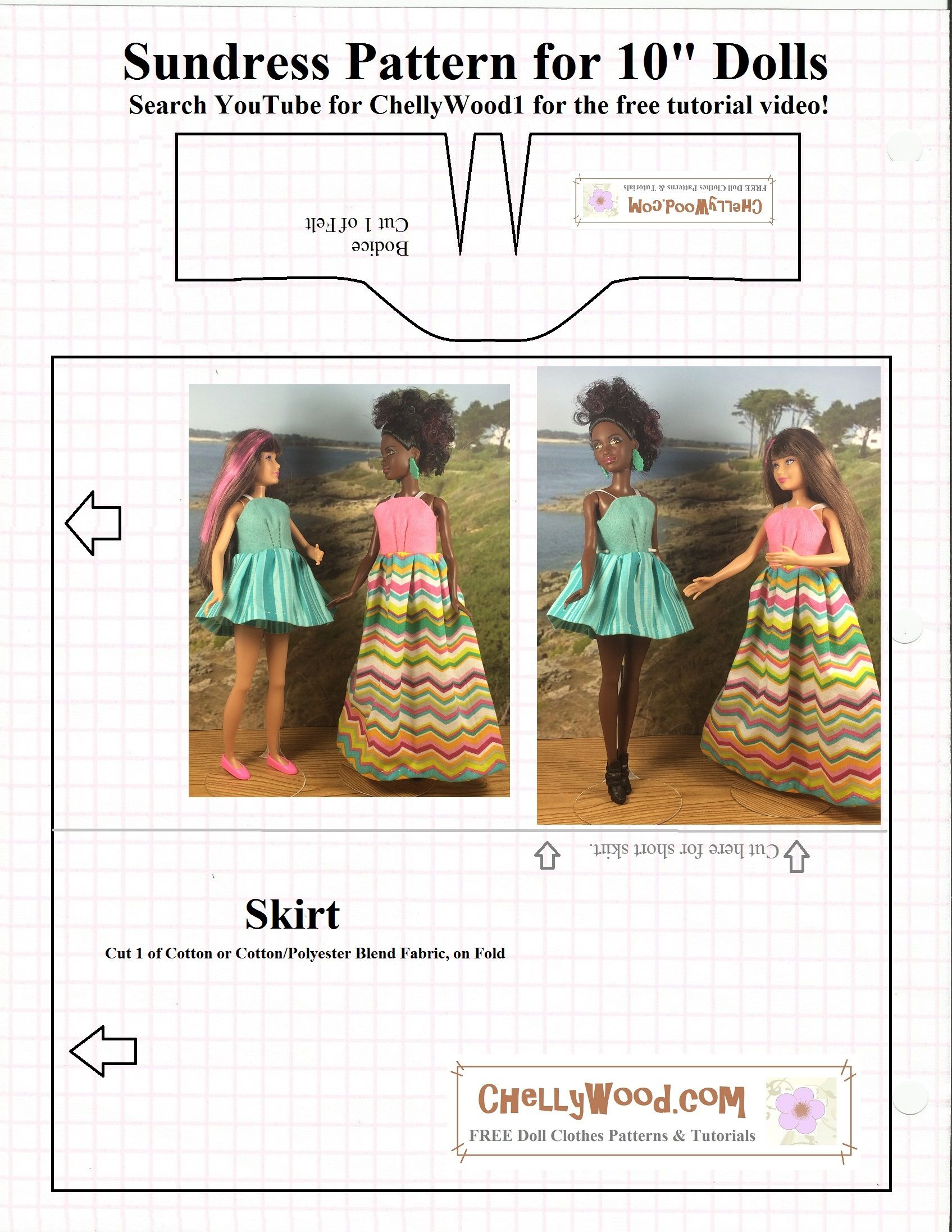 The tutorial that shows you how to make this dress is also free at ChellyWood.com