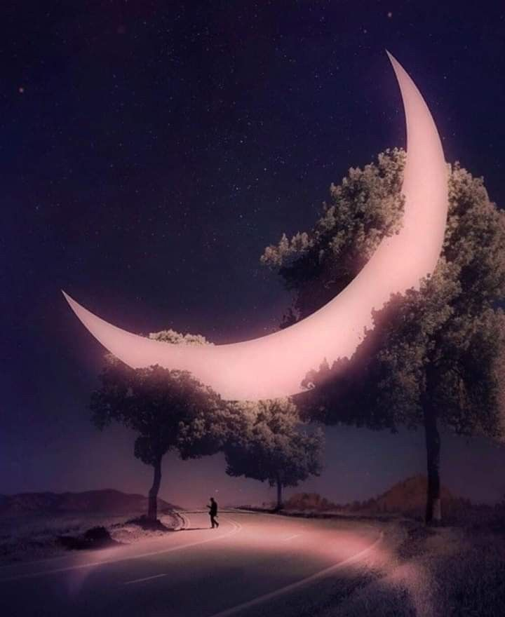 This is an image of Gorgeous Photoshop Moon Drawing
