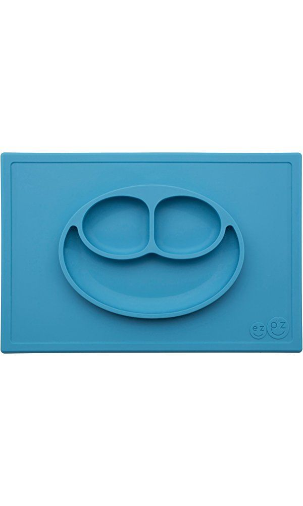 Ezpz Happy Mat - One-piece silicone placemat + plate (Blue) Best Price