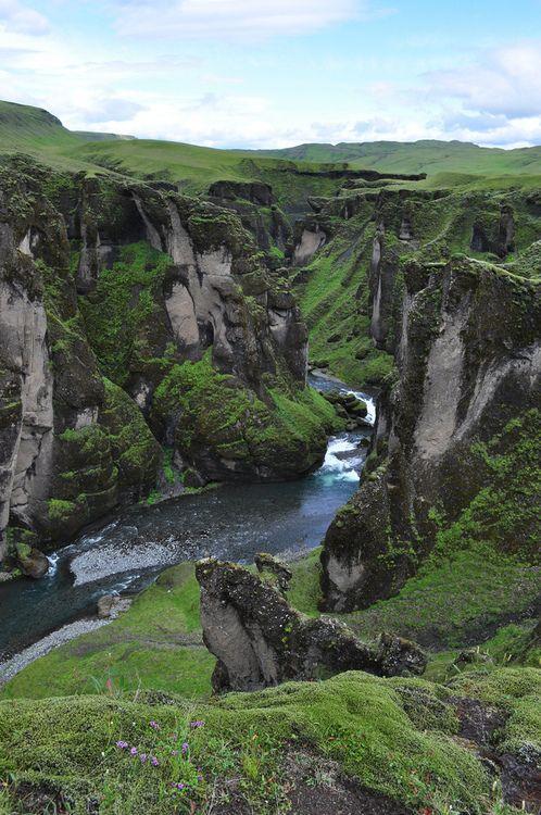 Canyon Falls, Iceland