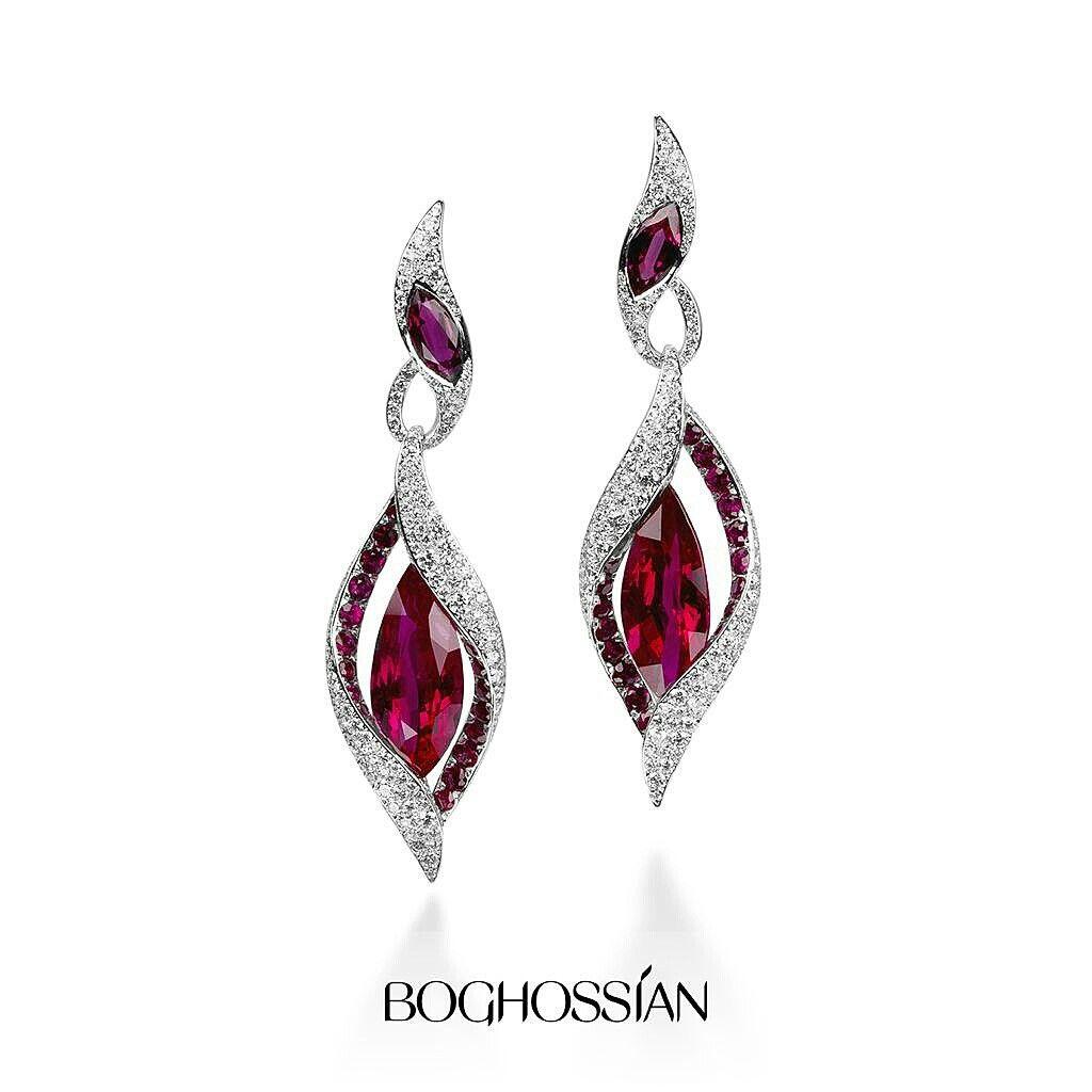 Boghossian Ruby And Diamond Earrings